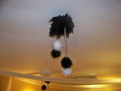 suspension plume organisatrice d 39 v nements. Black Bedroom Furniture Sets. Home Design Ideas
