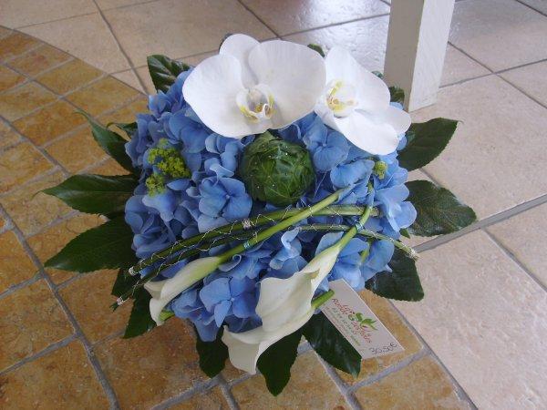 mise en valeur d 39 une tete d 39 hortensia bouquet rond blog de x drummy flowers. Black Bedroom Furniture Sets. Home Design Ideas